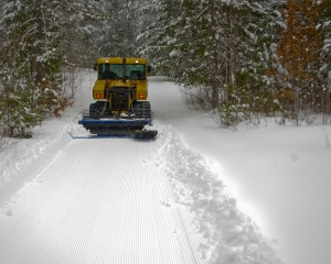 Trail after the groomer has passed
