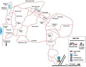 Razorback Ridges trail map