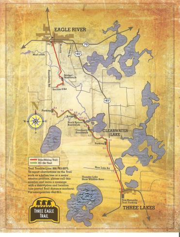 Updated trail map, including the new Eagle River segment